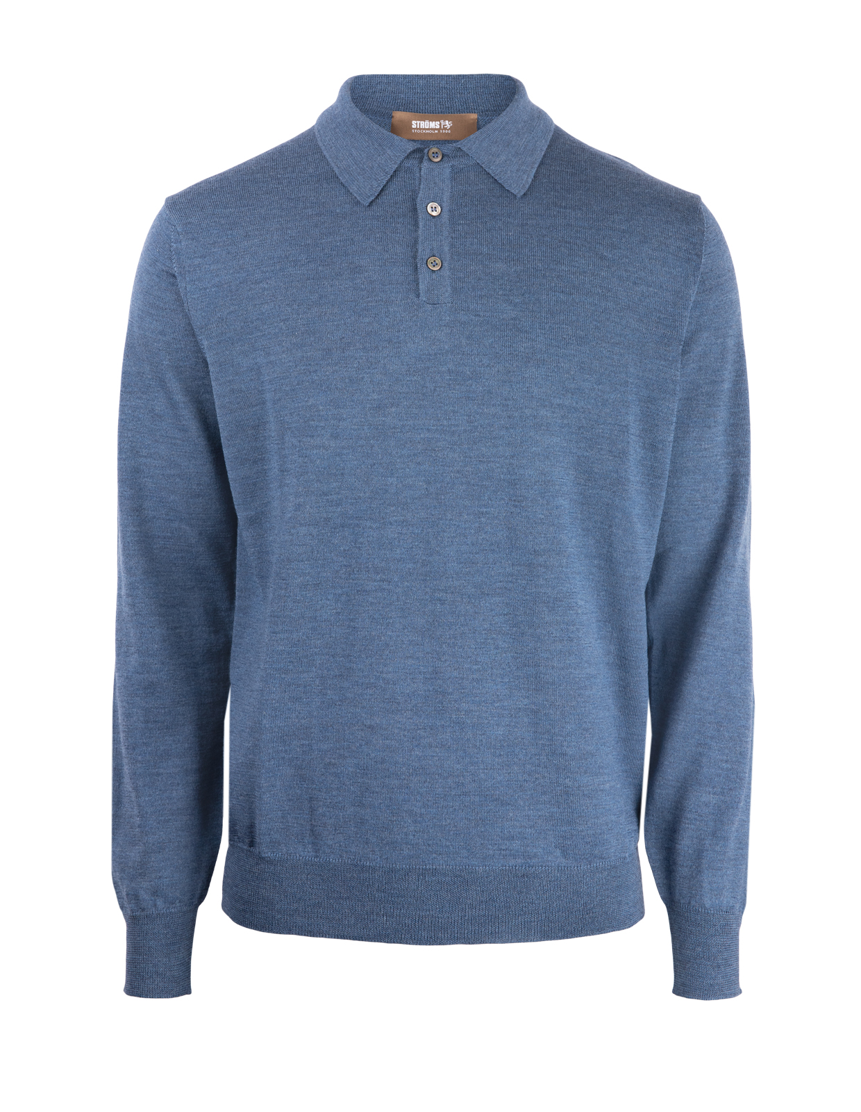 Poloshirt Sweater Merino Denim