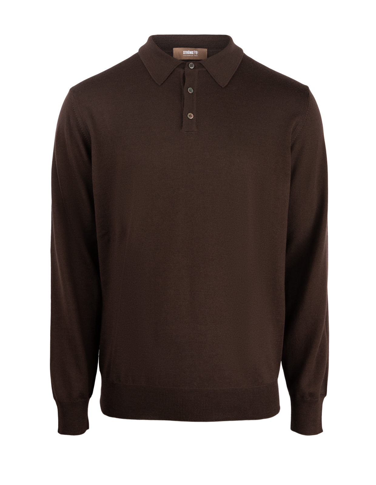 Poloshirt Sweater Merino Chocolate