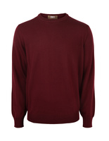 Crew Neck Merino Bordeaux