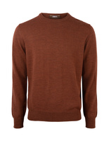 Crew Neck Merino Rust