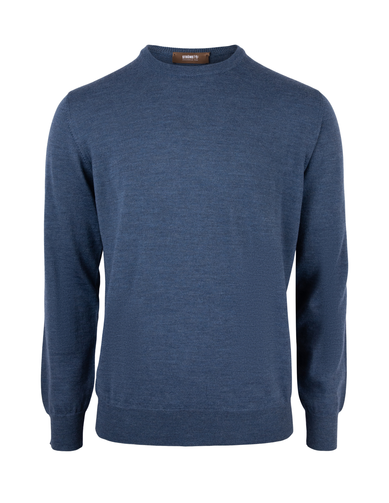 Crew Neck Tröja Merino Denim