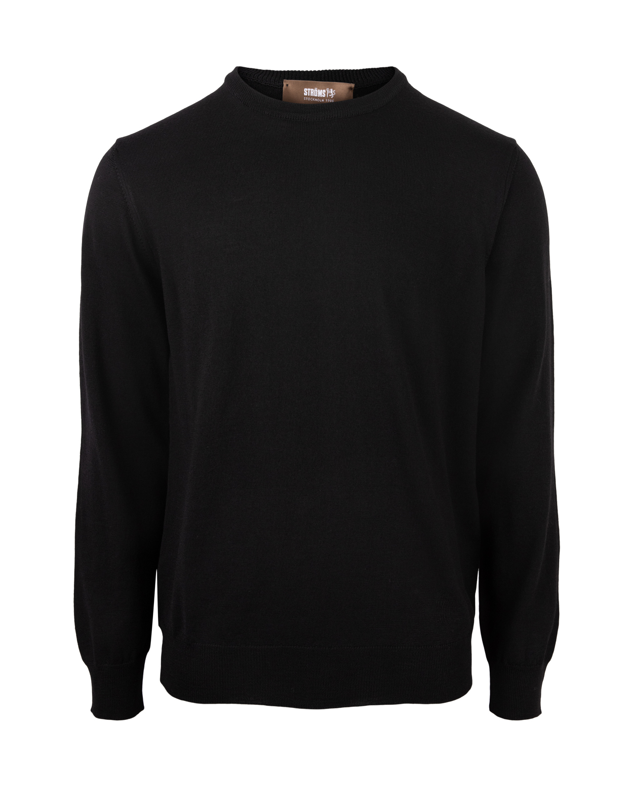 Crew Neck Merino Black
