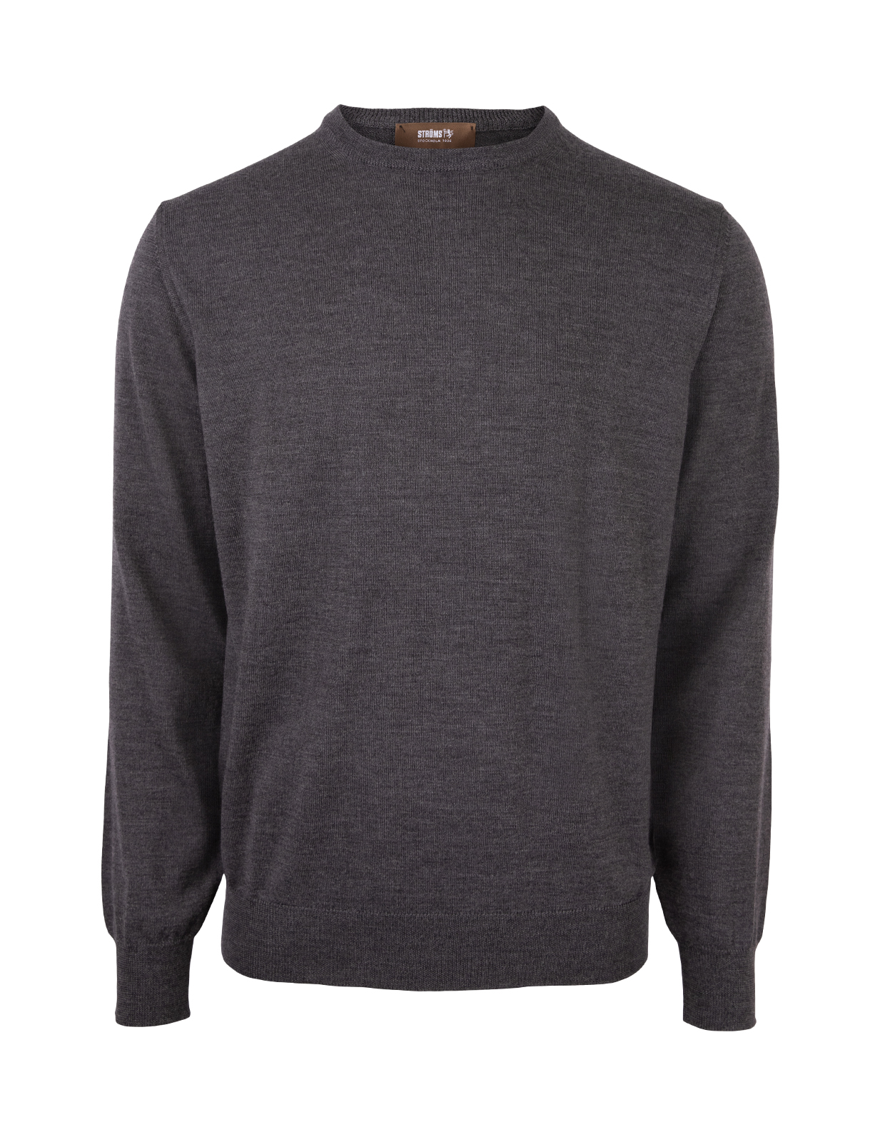 Crew Neck Merino Dark Grey