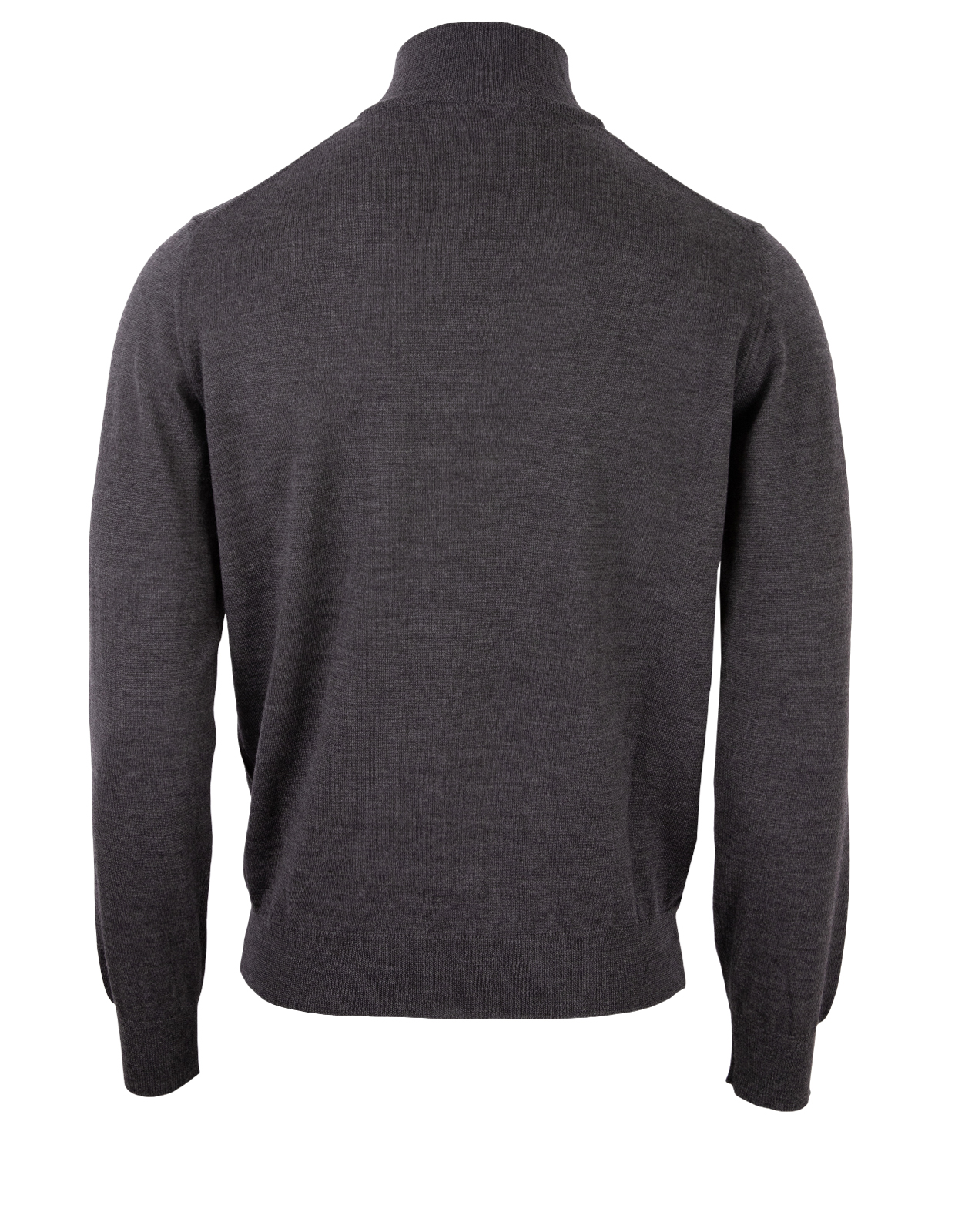 Half Zip Sweater Merino Dark Grey Stl M