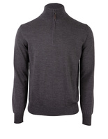 Half Zip Sweater Merino Dark Grey