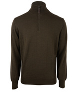 Half Zip Sweater Merino Olive Green