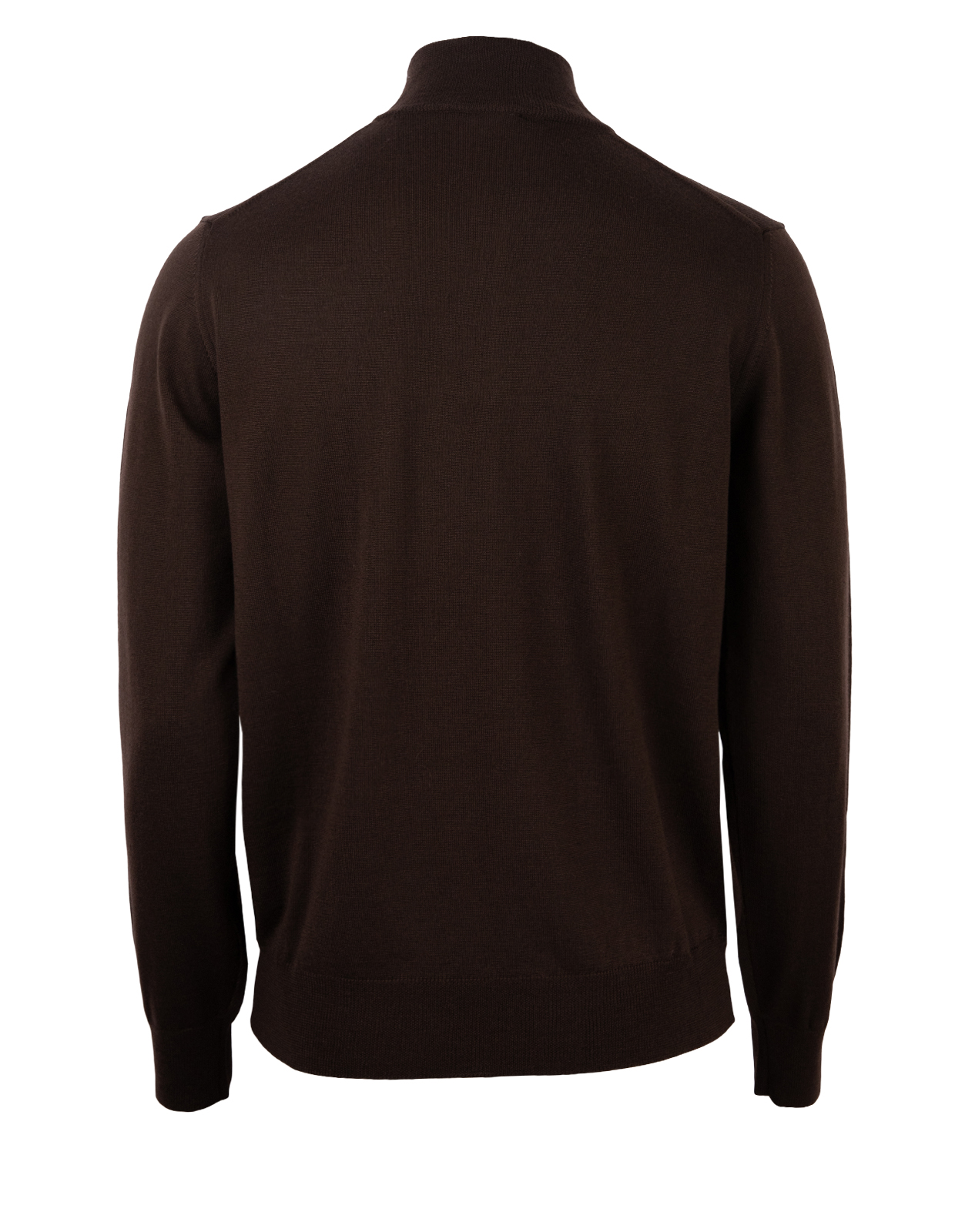 Half Zip Sweater Merino Chocolate