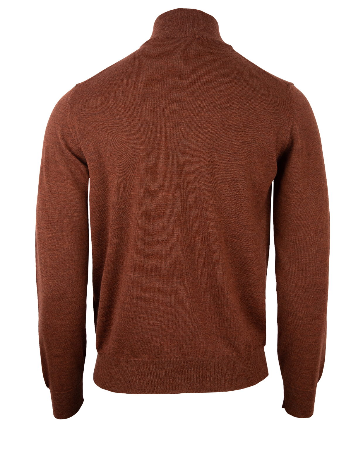 Half Zip Sweater Merino Rust