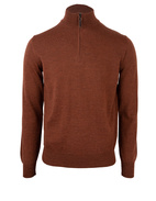 Half Zip Sweater Merino Rust Stl XXL