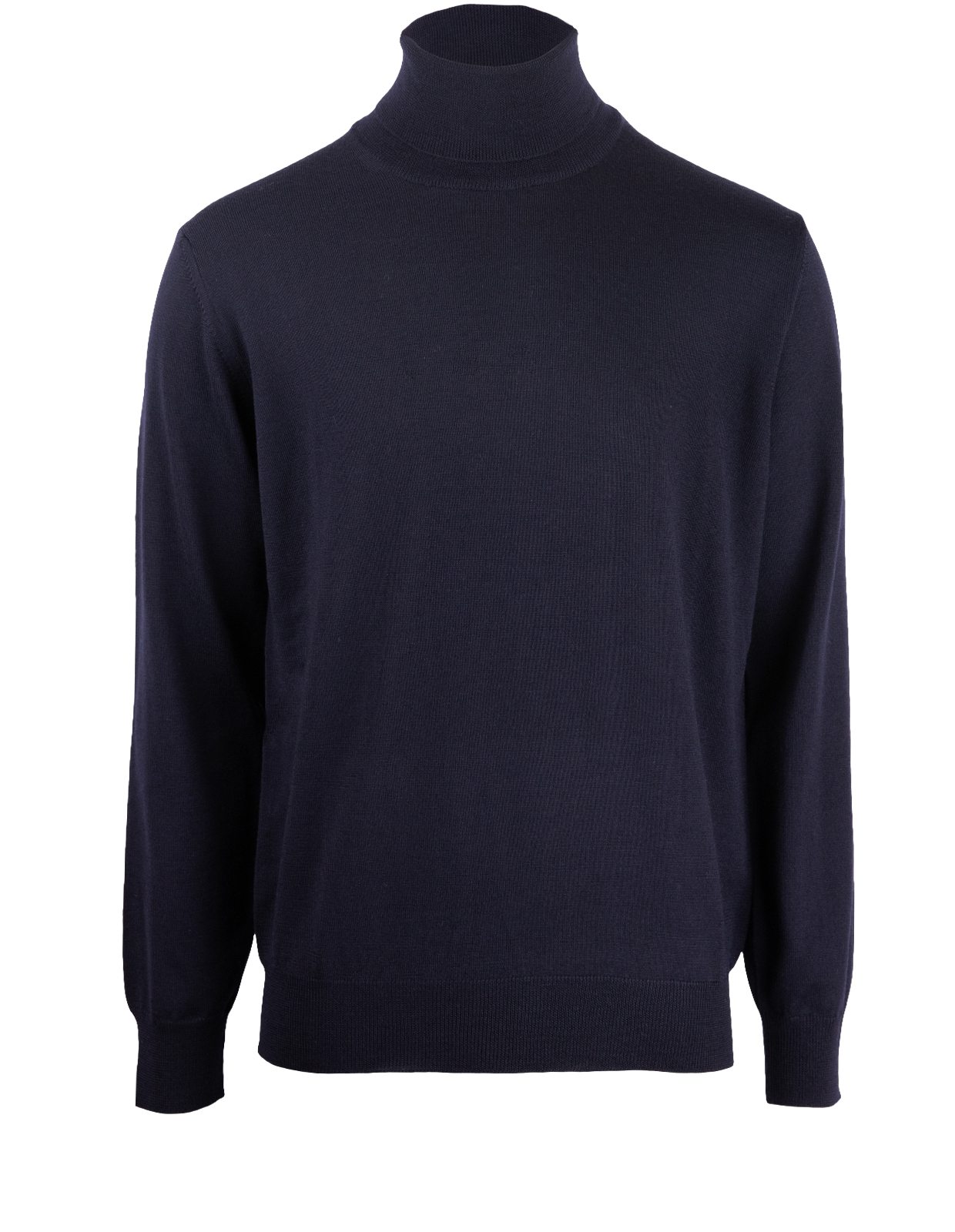 Roll Neck Tröja Merino Navy