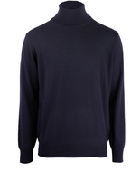 Roll Neck Merino Navy