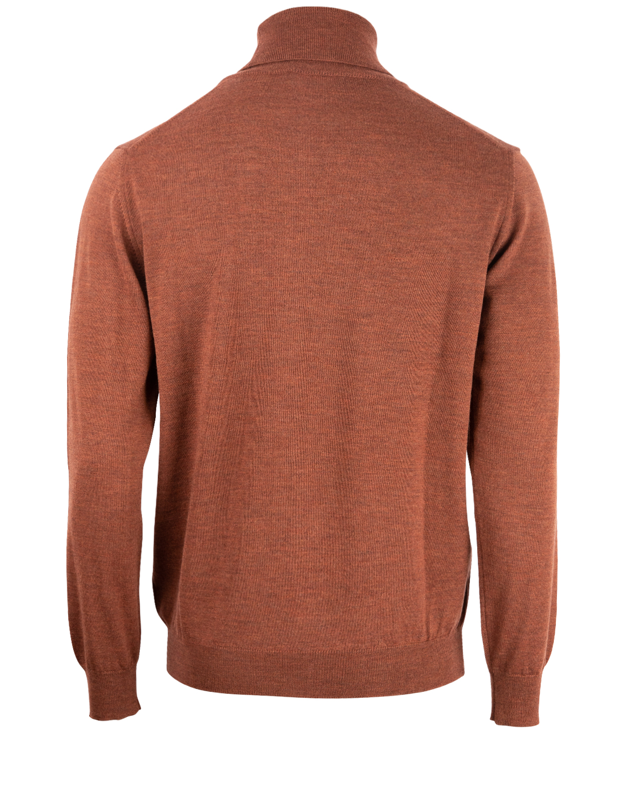 Roll Neck Merino Rust