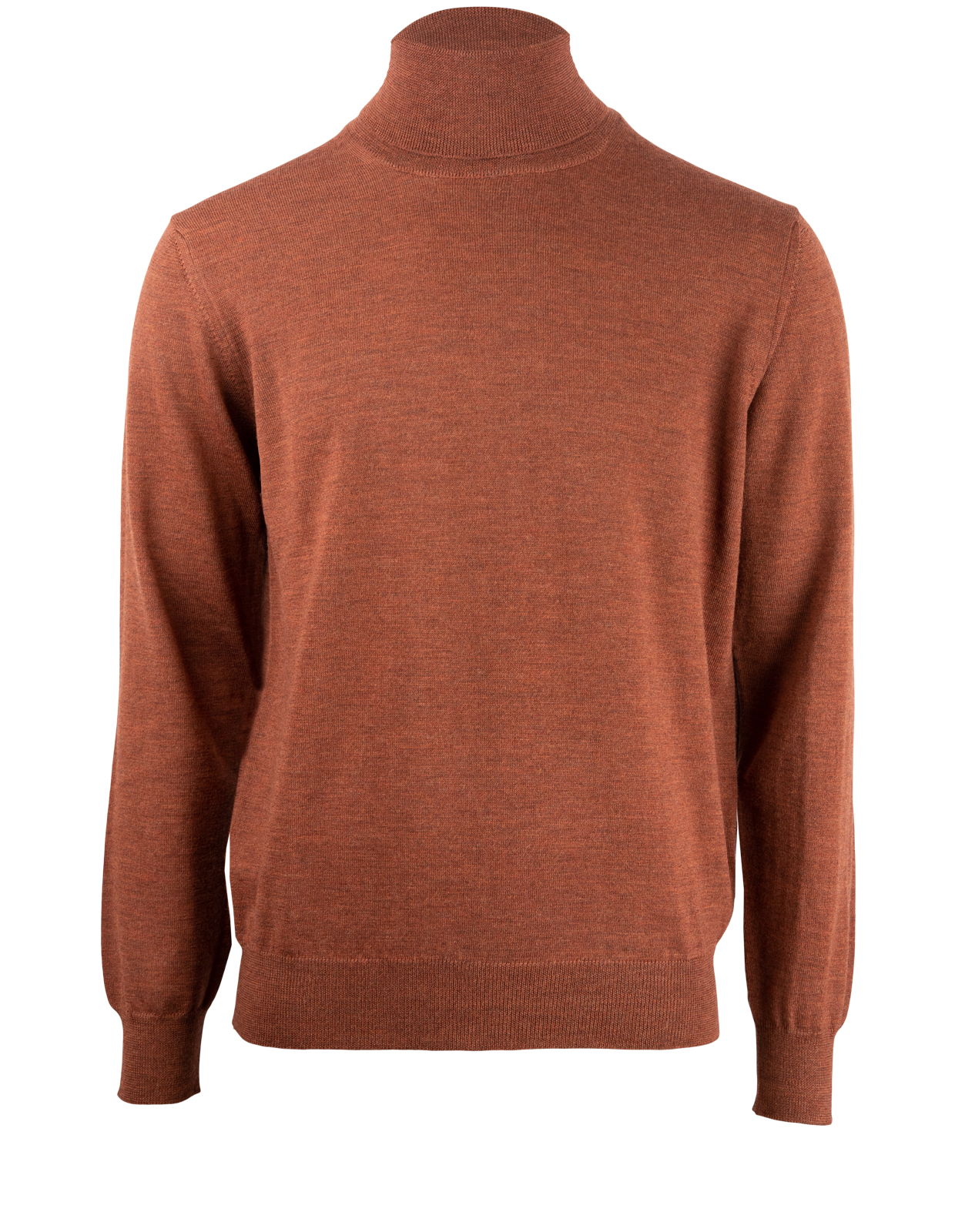 Roll Neck Tröja Merino Rust