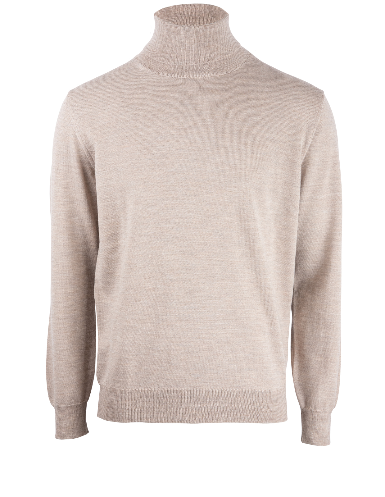 Roll Neck Merino Sand