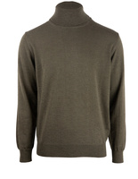 Roll Neck Merino Olive Green