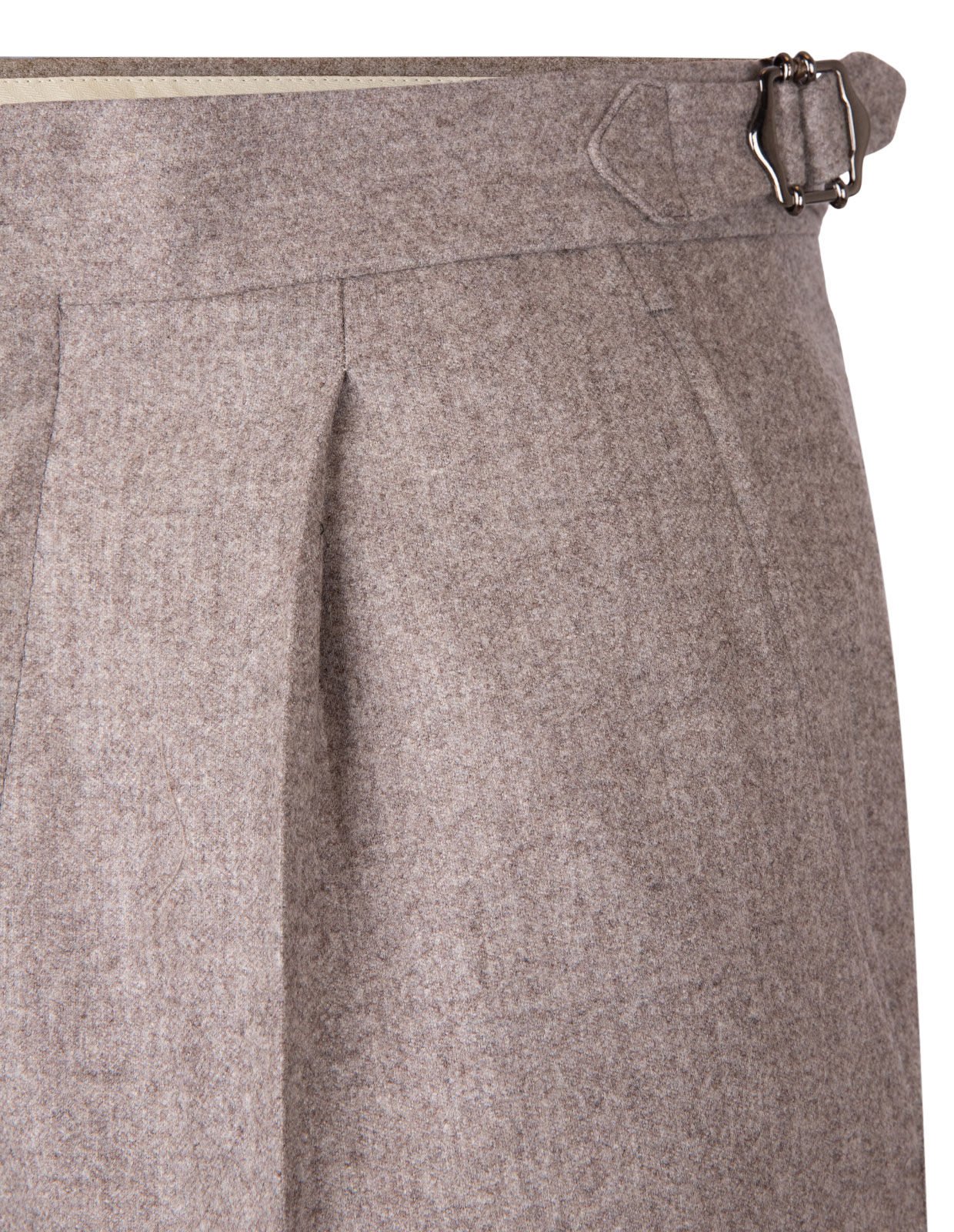 Sartorial Trouser Original Woollen Flannel Light Beige