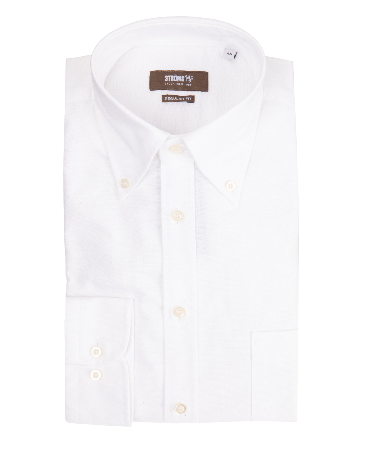 Regular Fit Button Down Oxfordskjorta OxfordVit