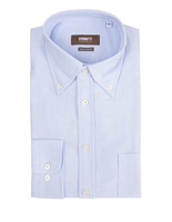 Regular Fit Button Down Oxford Shirt Light Blue