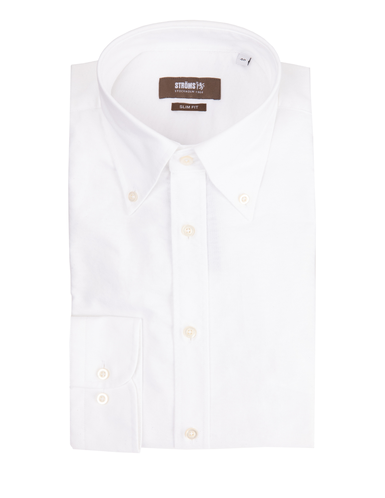 Slim Fit Button Down Oxfordskjorta OxfordVit