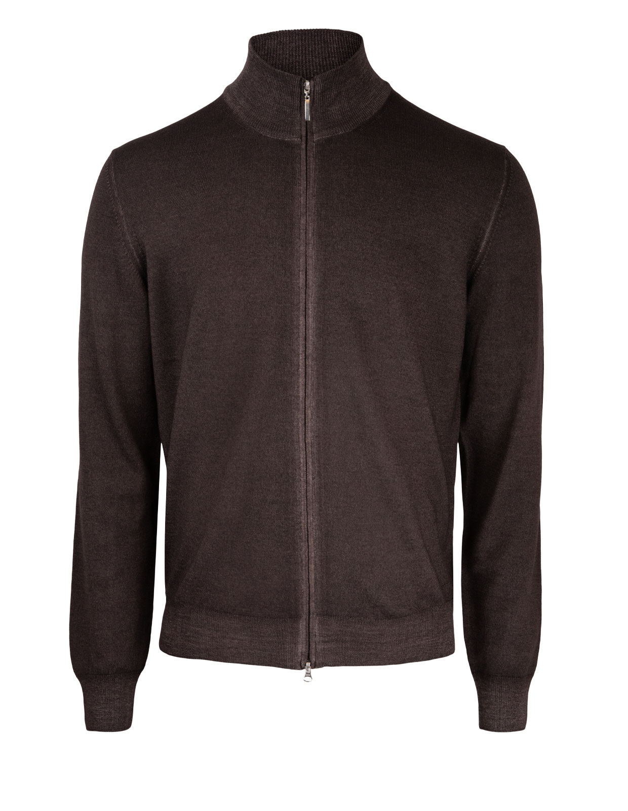 Full Zip Vintage Merino Brown