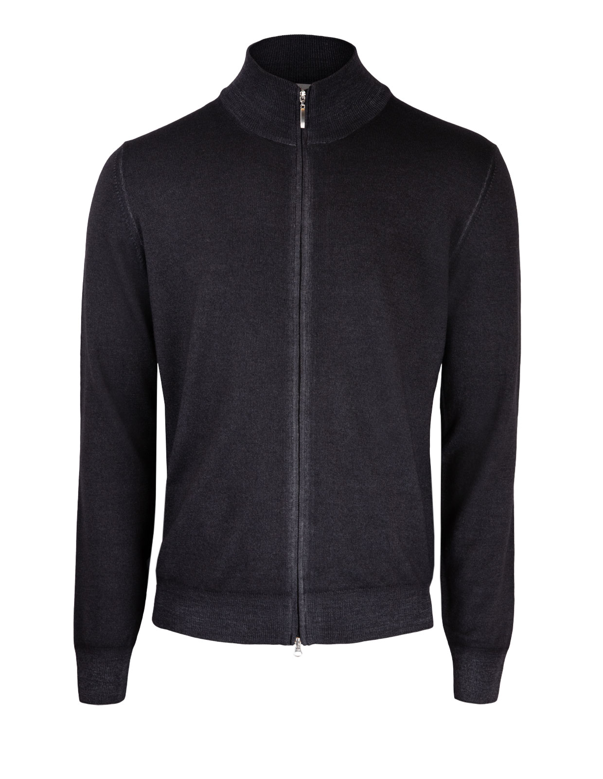 Full Zip Vintage Merino Dark Grey Stl 58