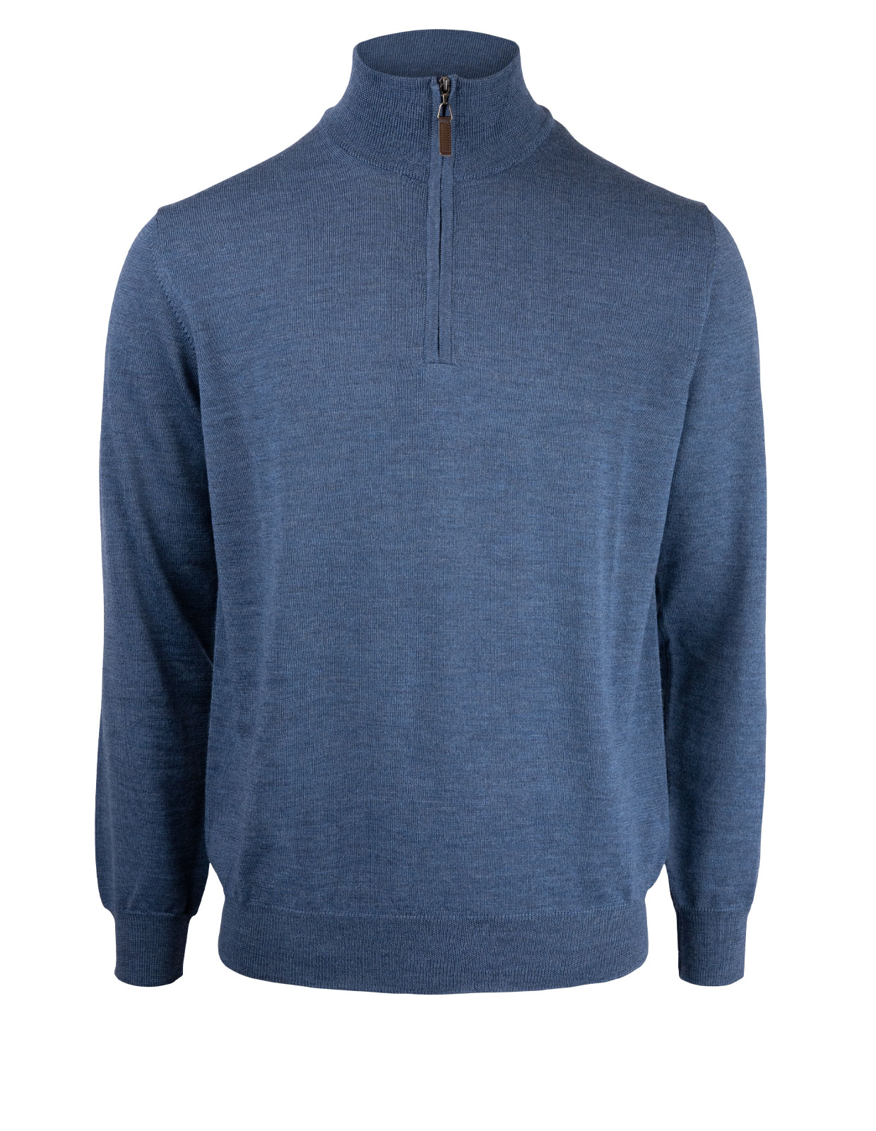 Half Zip Sweater Merino Denim
