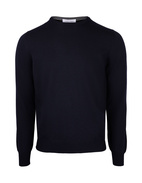 Fashion Fit Crew Neck Merino Pullover Navy