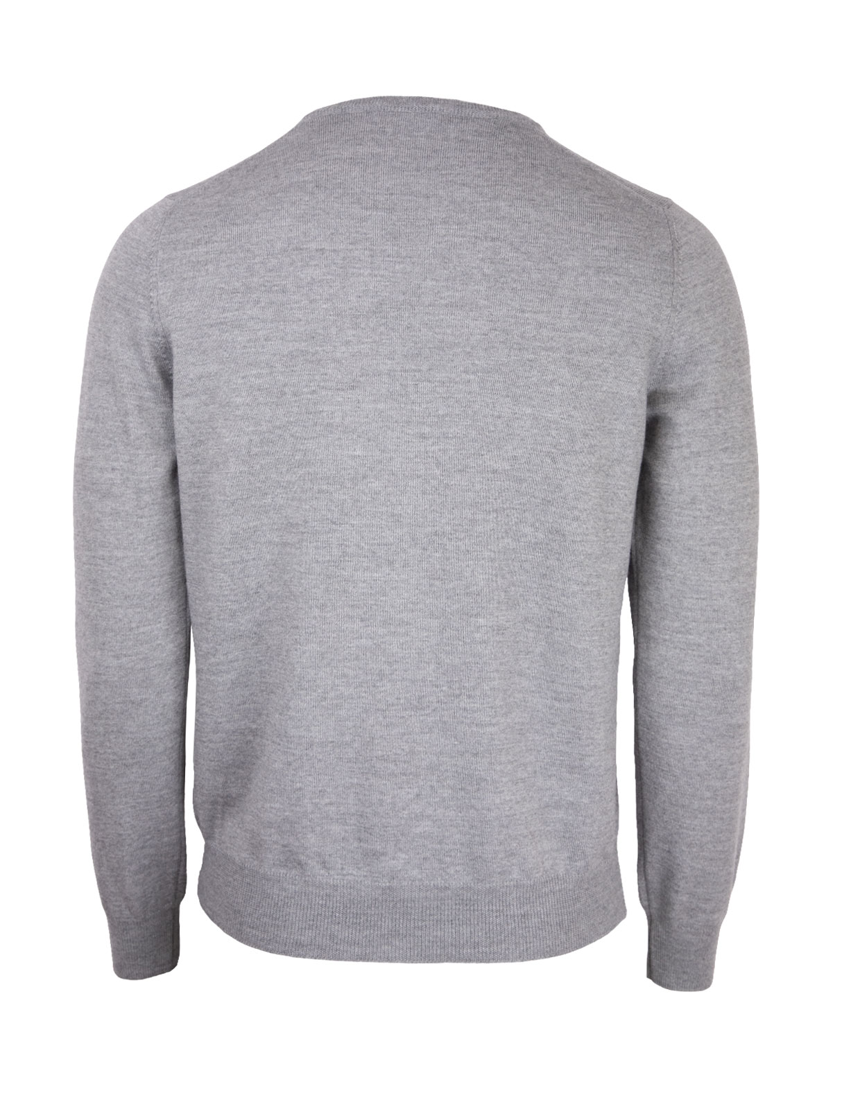 Fashion Fit Crew Neck Merino Pullover L.Grey Melange