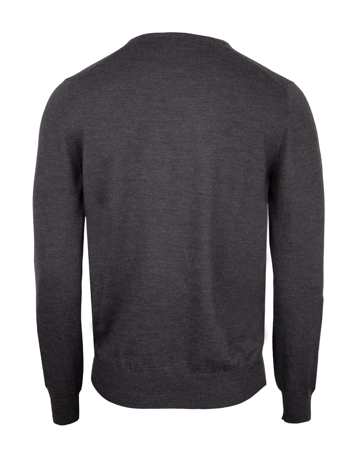 Fashion Fit Crew Neck Merino Pullover Charcoal
