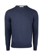 Fashion Fit Crew Neck Merino Pullover Denim