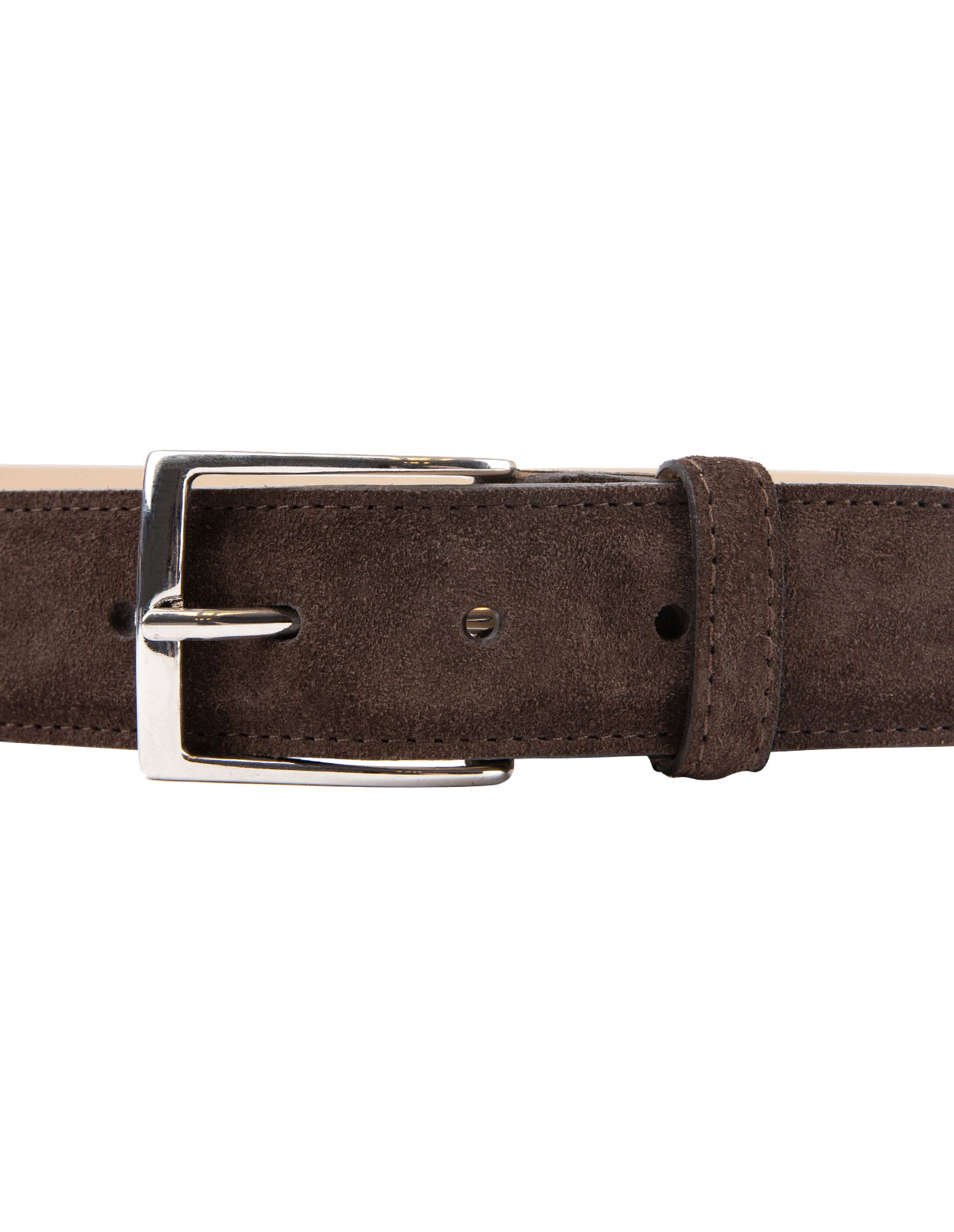 Timeless 3,5cm Belt Suede Calf Dark Brown