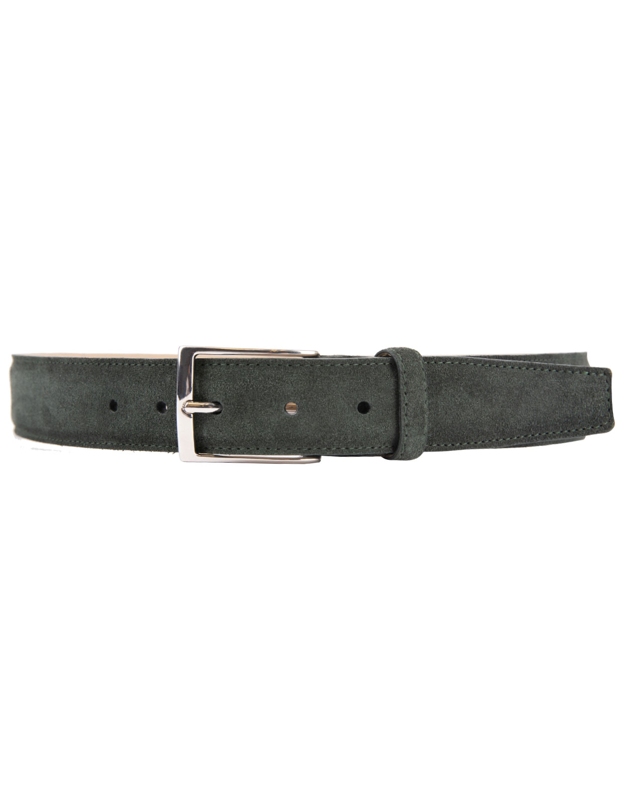 Timeless 3,5cm Belt Suede Calf Dark Olive