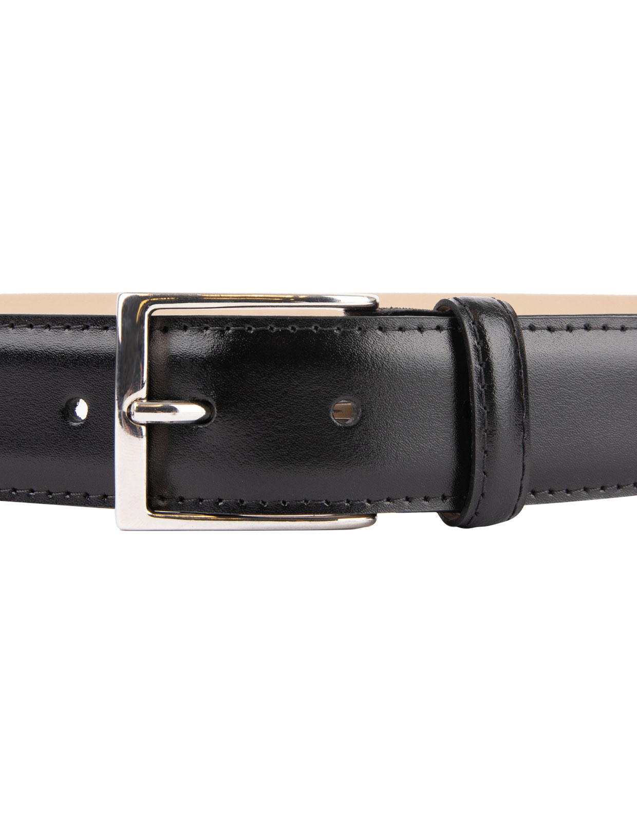 Timeless 3,5cm Belt Calf Leather Black