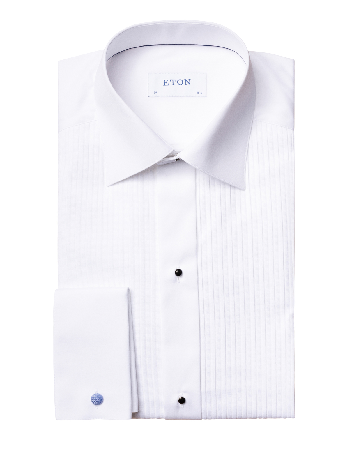 Slim Fit Evening Shirt Plissé White