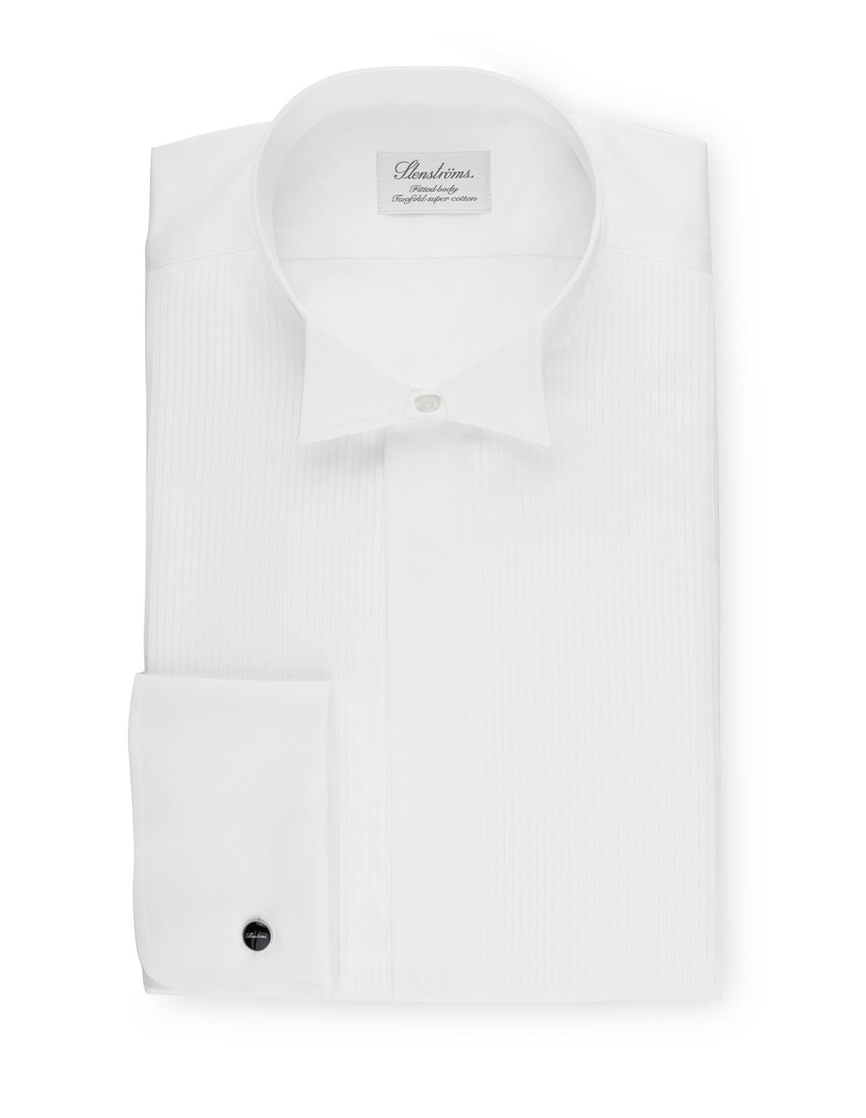 Fitted Body Tuxedo Shirt With Wing Collar Vit Stl 43