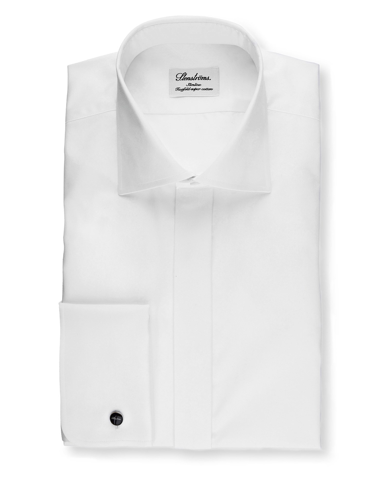 Slimline Evening Shirt In Superior Twill Vit