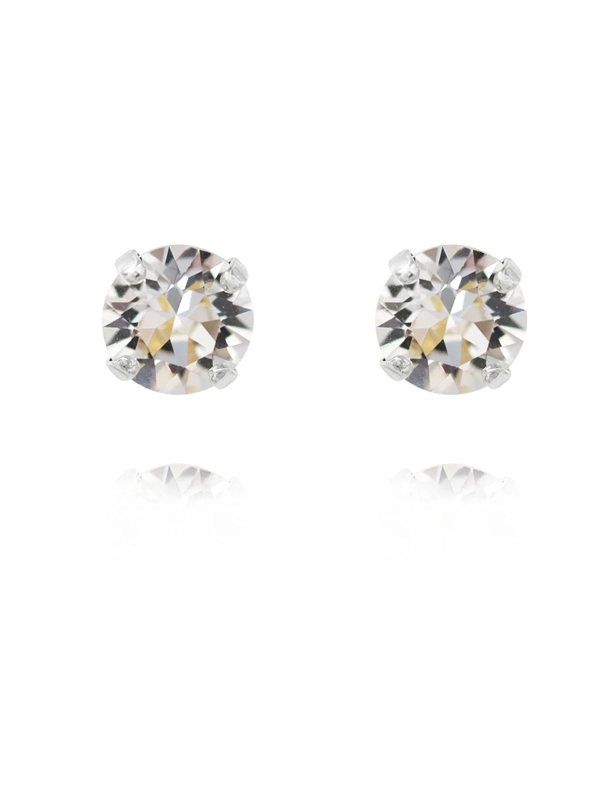 Classic Studs earring rodium Crystal