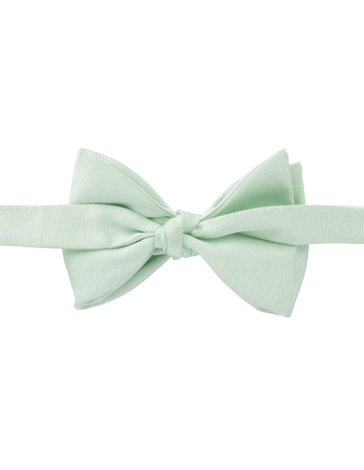 Classic Bow Tie Silk Light Green
