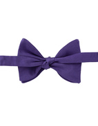 Classic Bow Tie Silk Purple