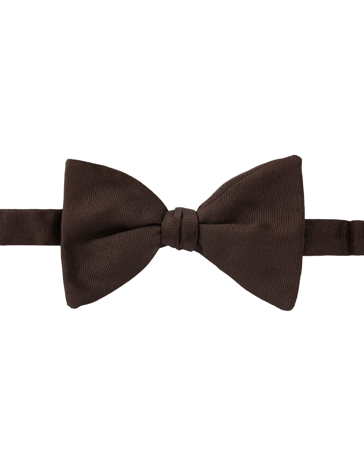 Classic Bow Tie Silk Dark Brown