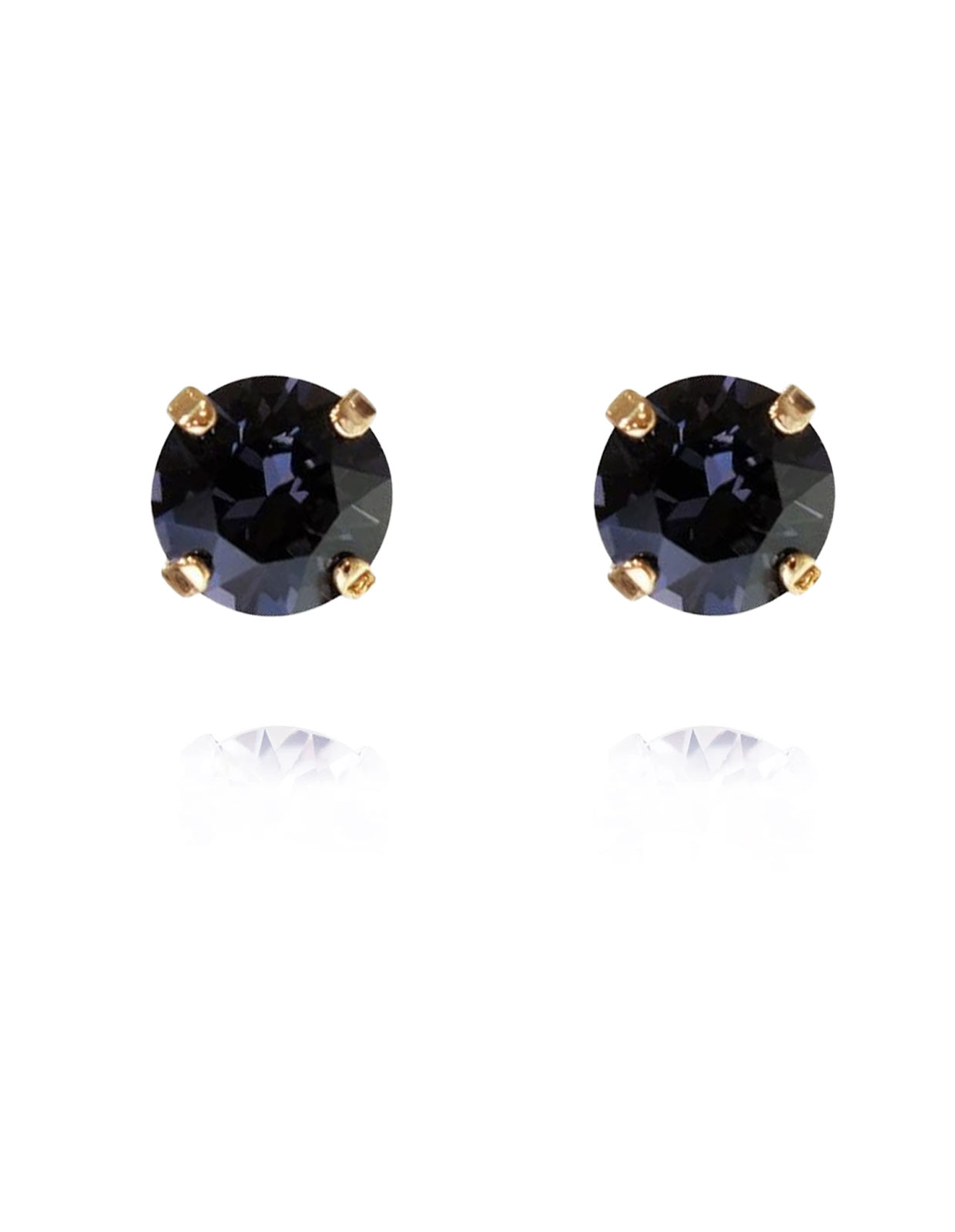 Classic Studs earring gold Graphite