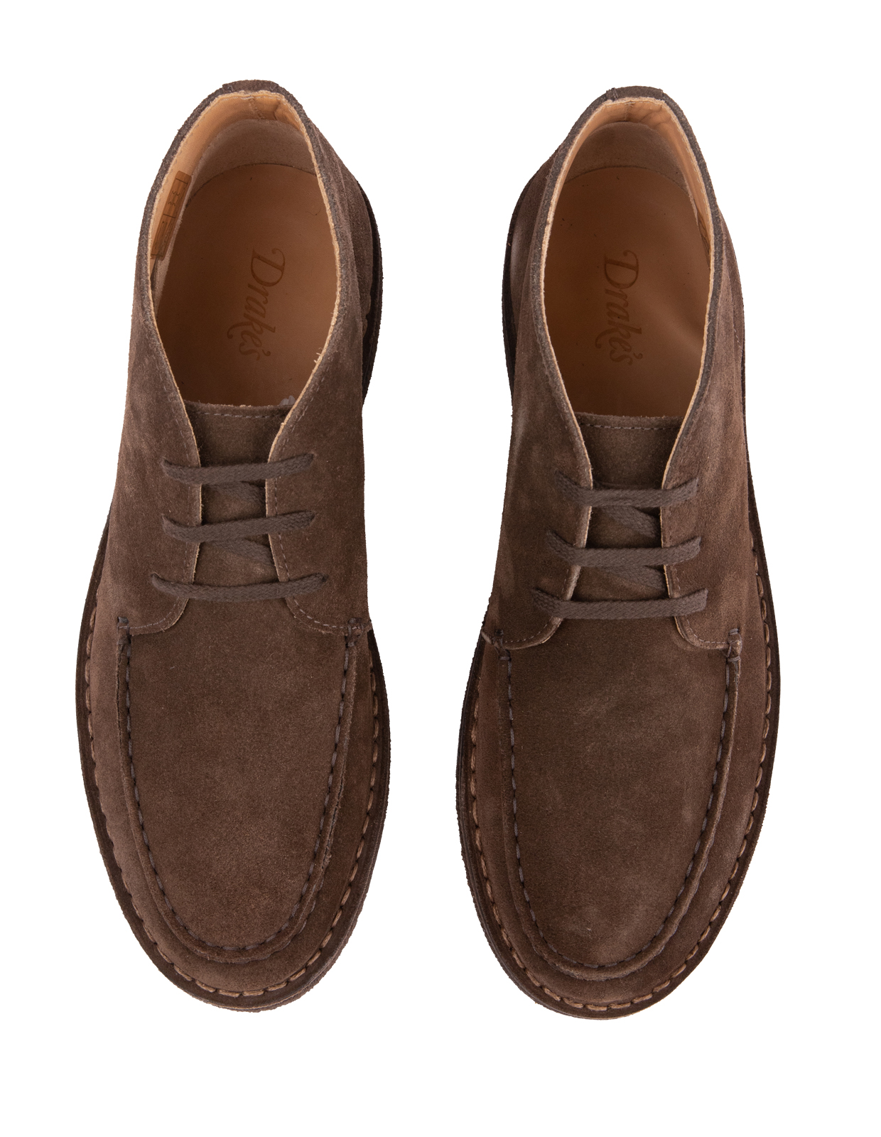 Crosby Chukka Boot Suede Rubber Sole Dark Brown