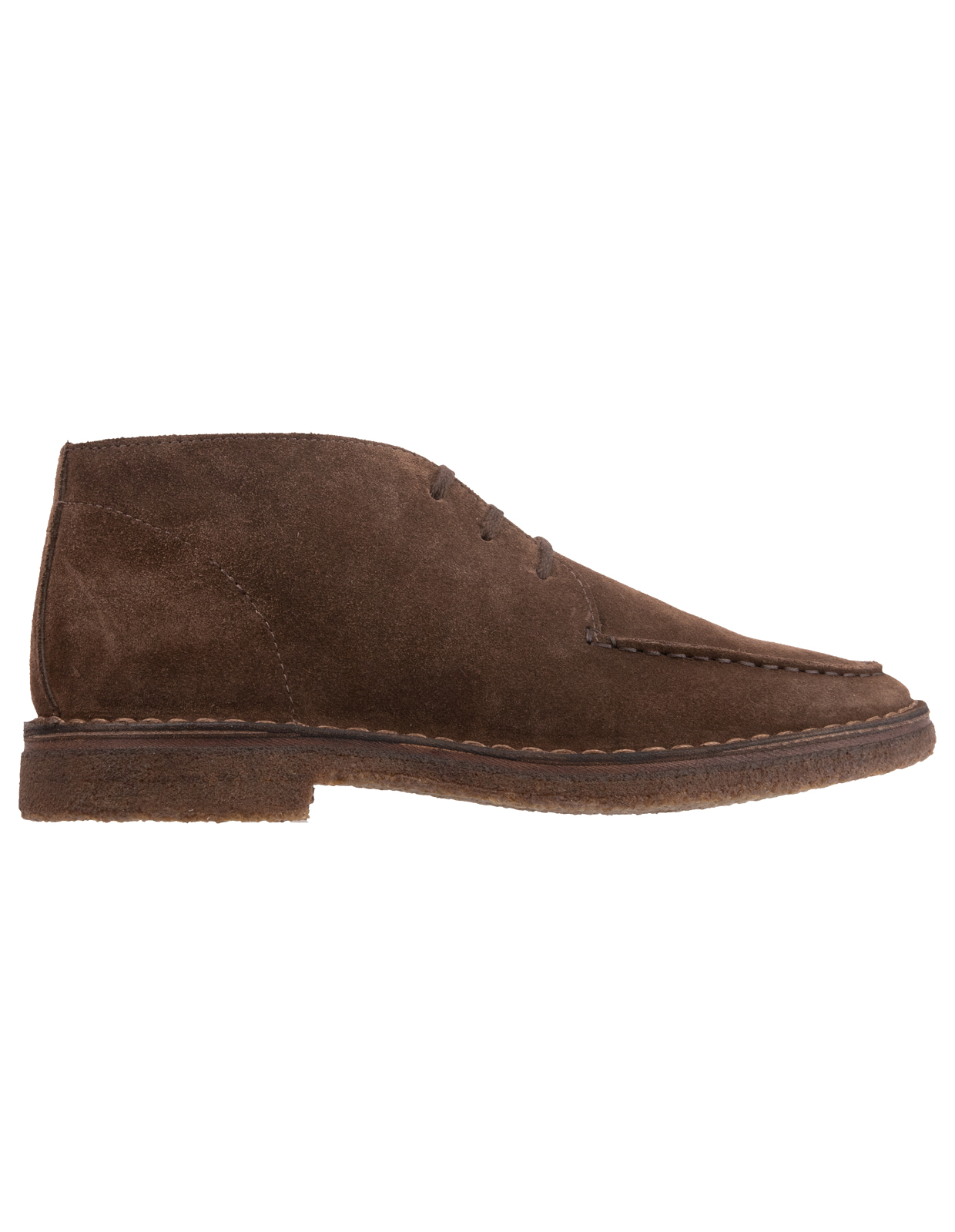 Crosby Chukka Boot Suede Rubber Sole DarkBrown