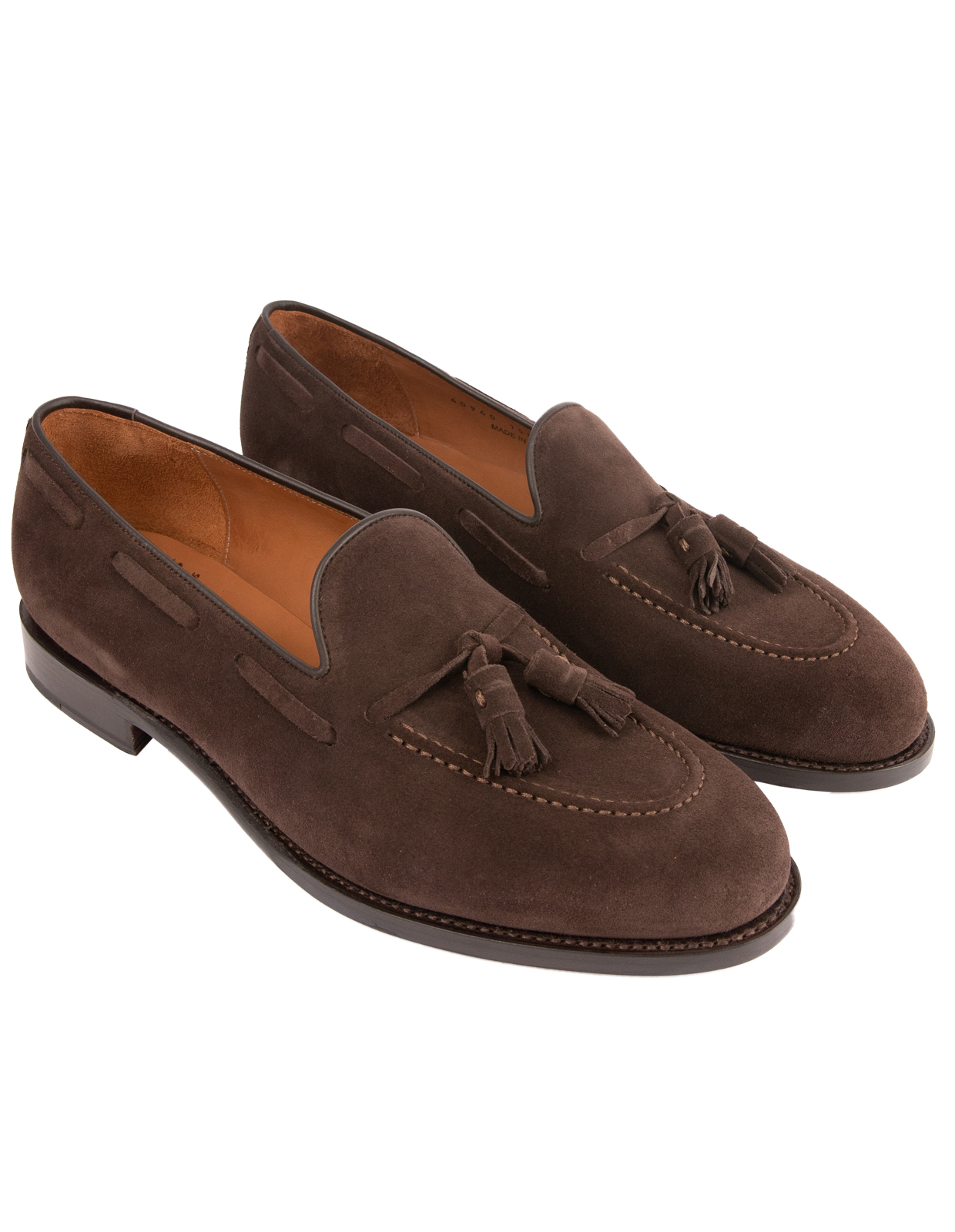 Tassel Loafers Suede Bitter Chocolate