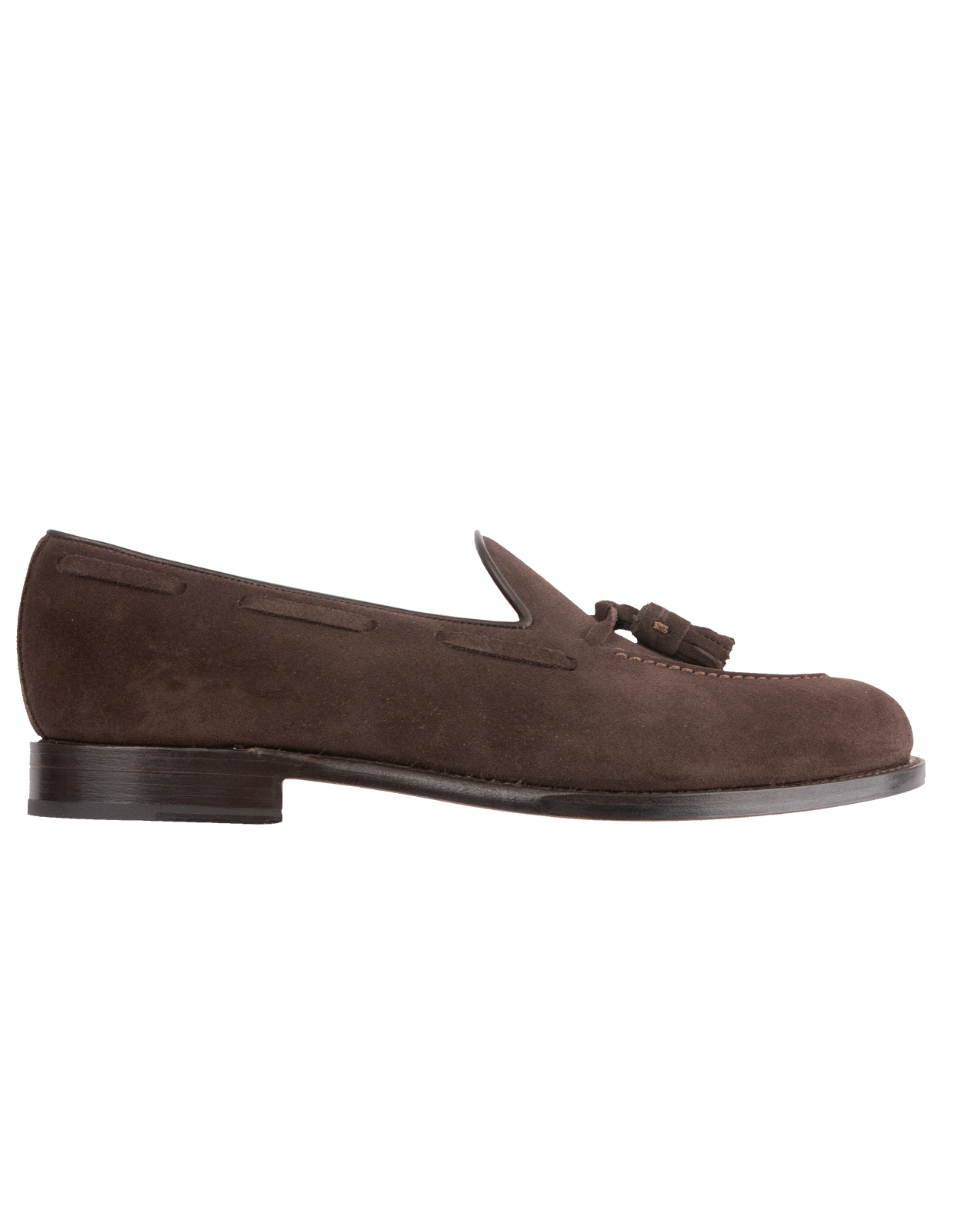 Tassel Loafers Suede Bitter Chocolate Stl 7.5