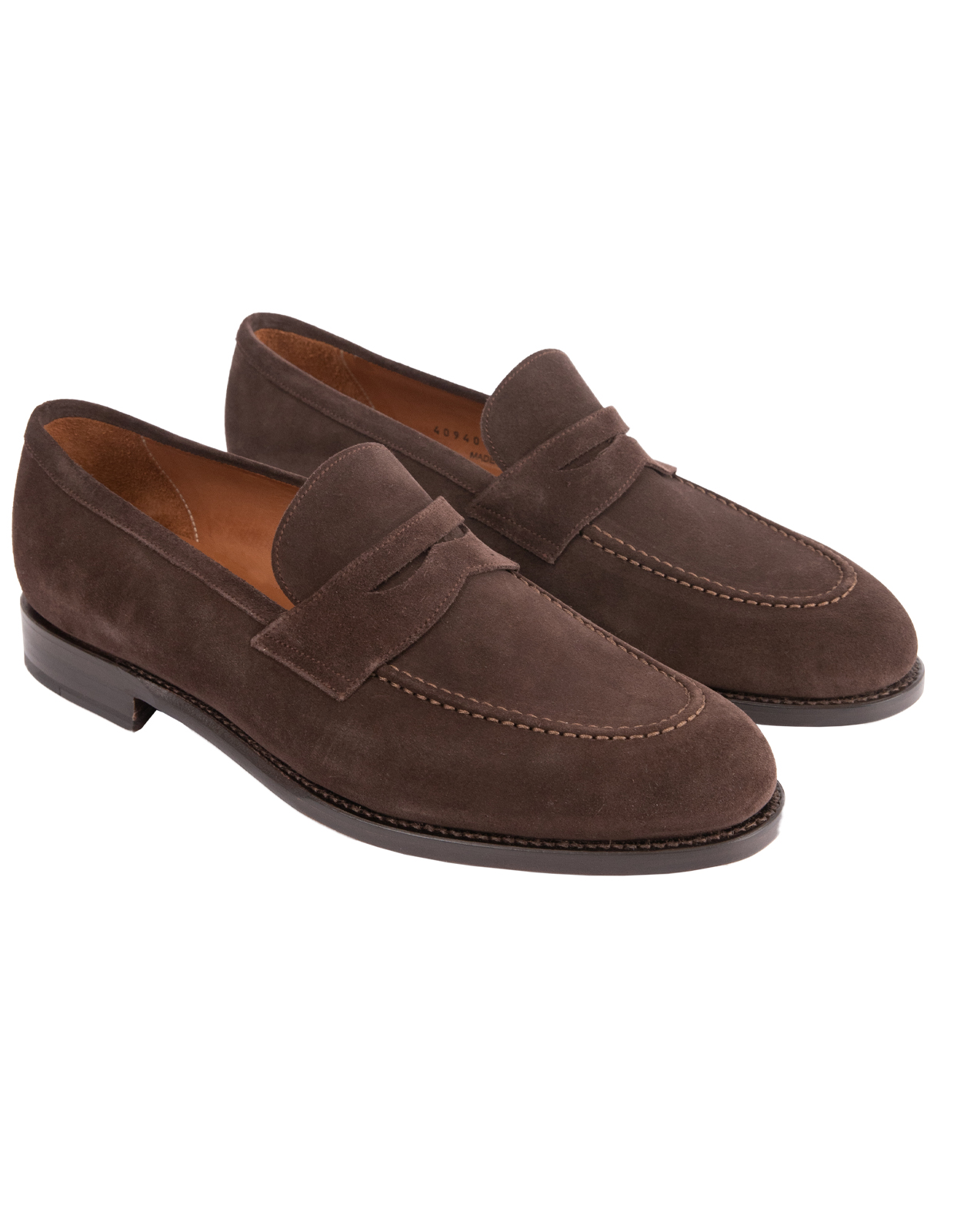 Penny Loafers Suede Bitter Chocolate