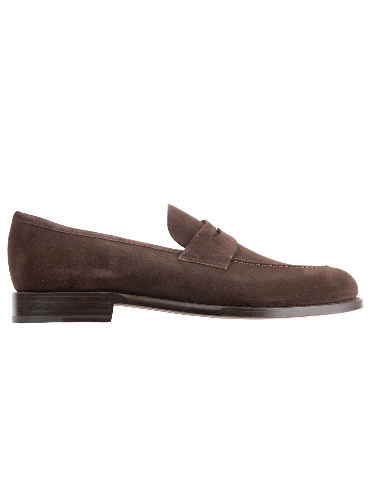 Penny Loafers Suede Bitter Chocolate Stl 11