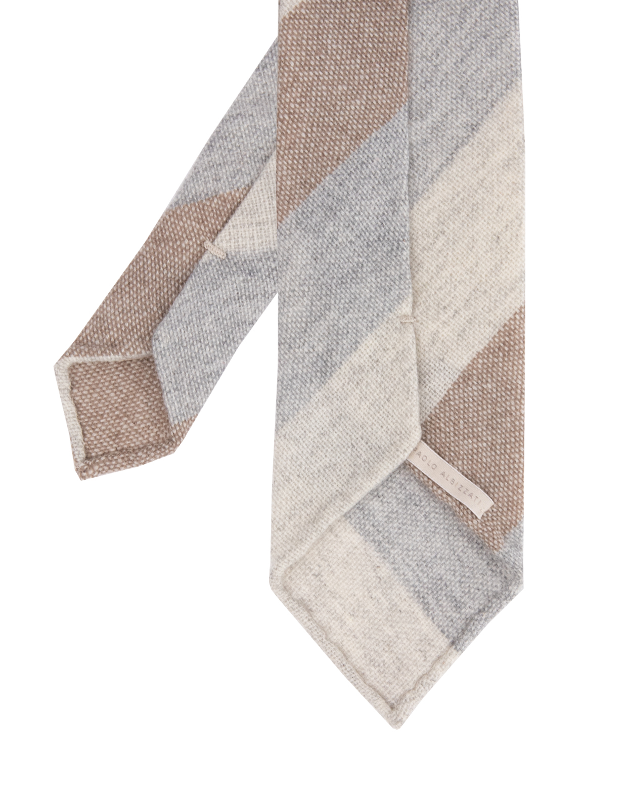 Untipped Tie Cashmere Creme Taupe Grey