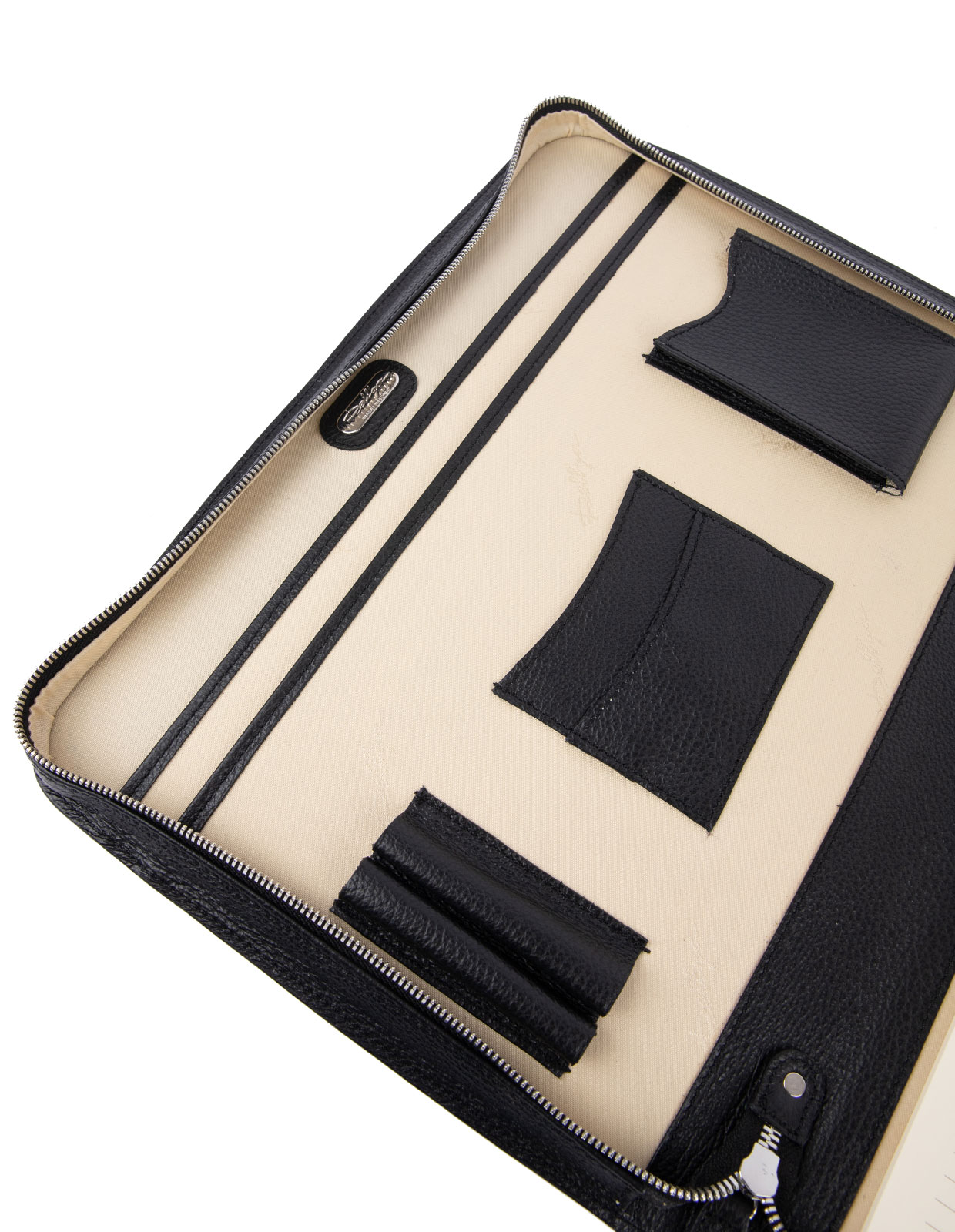 Document Case Bottalato Leather Black