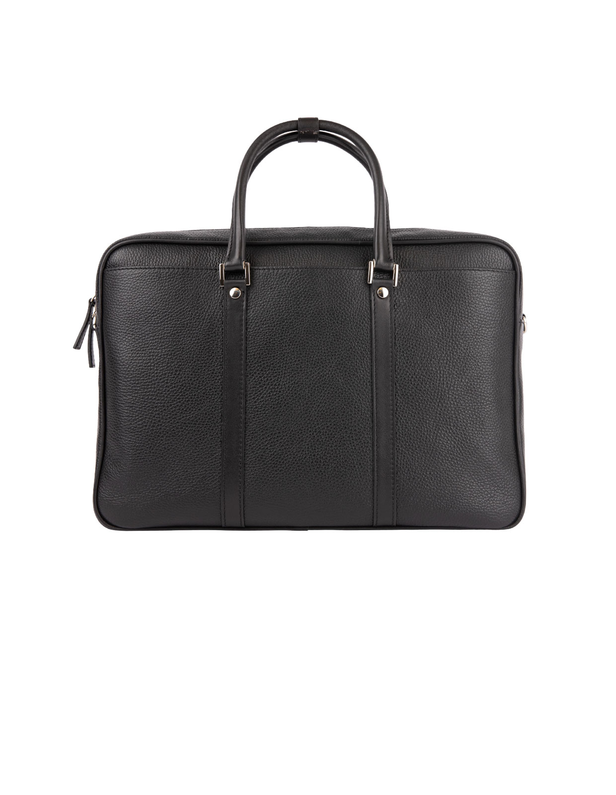 Briefcase Bottalato Leather Black